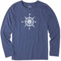Life Is Good Womens LIG Compass Long Sleeve Top