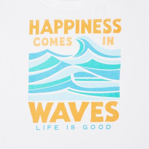 4e82fb2ef95 Life Is Good Womens Happiness Comes In Waves Crusher T-Shirt ...