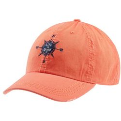 Life Is Good Womens LIG Compass Sunwashed Chill Cap