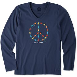 Life Is Good Womens Let It Shine Long Sleeve Crusher T-Shirt