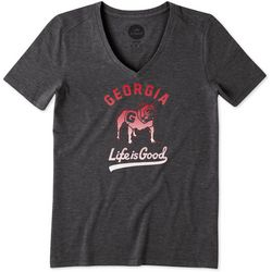 Georgia Bulldogs Womens Gradient T-Shirt By Life Is Good