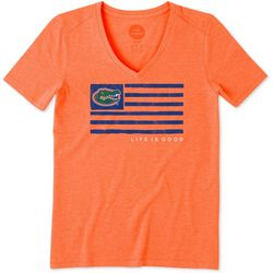 Florida Gators Womens Flag T-Shirt By Life Is Good