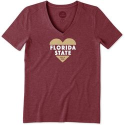 Florida State Womens Heart Knockout T-Shirt By Life Is Good