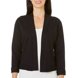 Womens Long Sleeve Solid Open Front Shrug