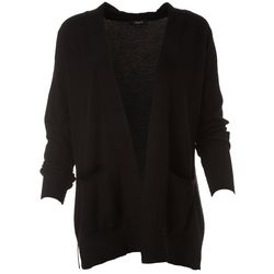 Tribekka 44 Womens Solid Open Front Cardigan