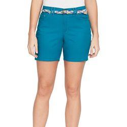BANDOLINO Womens Amalia Belted Twill Shorts