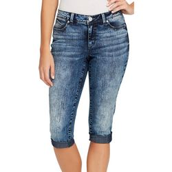BANDOLINO Womens Lisbeth Denim Skimmer Shorts