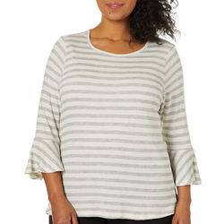 Democracy Plus Striped Bell Sleeve Top