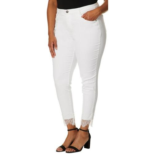 fd0a31b1814 Democracy Plus Solid Lace Hem Denim Jeans