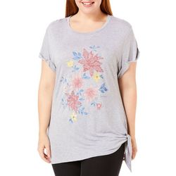 Democracy Plus Floral Side Knot Top