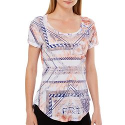 OneWorld Womens Shattered Floral Print Top