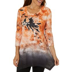 OneWorld Womens Witches Ride Jewel Embellished Top