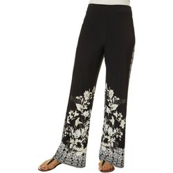 OneWorld Womens Floral Soft Pants