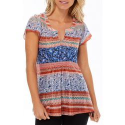 OneWorld Womens Whitty Charm Mixed Floral Top