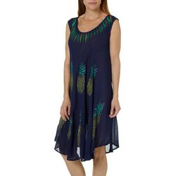 India Boutique Womens Tropical Pineapple Sundress