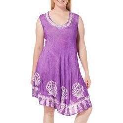 India Boutique Plus Embroidered Seashell Sundress