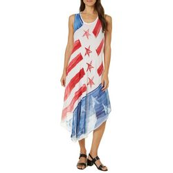 Ace Fashion Womens One Size Fits All Stars & Stripes Dress