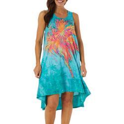 Petite Sleeveless Palm Hugger Dress