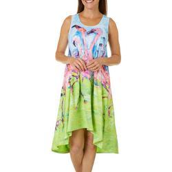 Petite Flamingo T-Shirt Dress