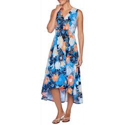 Petites Sleeveless Floral Print Dress