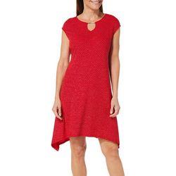 Ruby Road Favorites Petite Glitzy Keyhole Dress