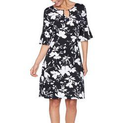 Ruby Rd Petite Key Hole Neck Knee Dress