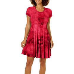 Sami & Jo Petite Sequins Tie Dye Dress
