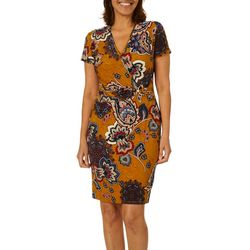 Sami & Jo Petite Floral Print Wrap Sheath Dress