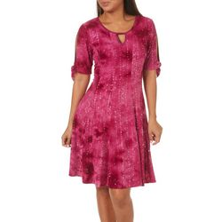 Sami & Jo Petite Keyhole Tie Sleeve Gomez Dress