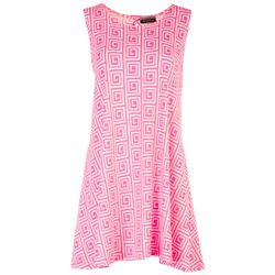 Allison Brittney Petite Geometric Sun Dress