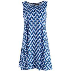 Allison Brittney Petite Blue Labirinto Casual Dress