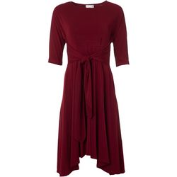 Robbie Bee Petite Solid Wrapped Front Dress