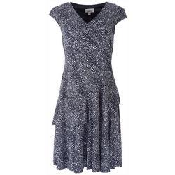 Petite Ruffle Detail Dot Print Sleevless Dress