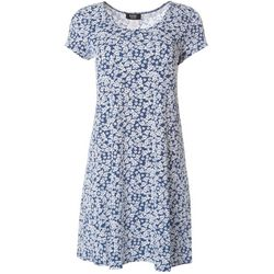 MSK Petite Short Sleeve Small Floral Print Dress