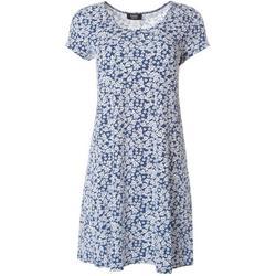 Petite Short Sleeve Small Floral Print Dress