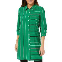 MSK Petite Striped Ring Back Shirtdress
