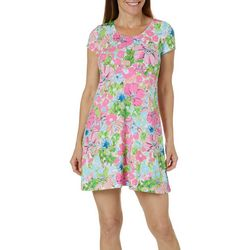 MSK Petite Floral Print Swing Dress