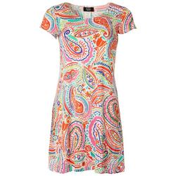 Petite Paisley Printed T-Shirt Dress