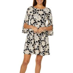 MSK Petite Floral Puff Print Swing Dress