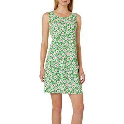 MSK Petite Daisy Print Tie Back Sleeveless Swing Dress
