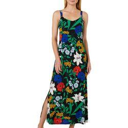 MSK Petite Floral Print Maxi Dress
