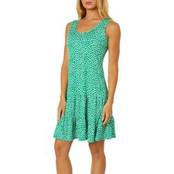 MSK Petite Dot Print Ruffled Sundress