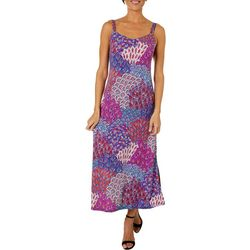 MSK Petite Peacock Print Maxi Dress