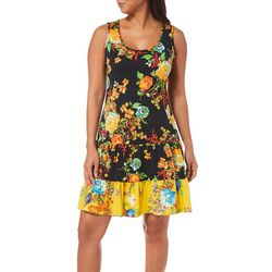 MSK Petite Ruffled Blooming Floral Sundress