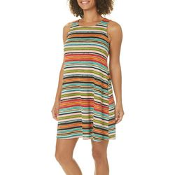 MSK Petite Striped Tie Back Sundress
