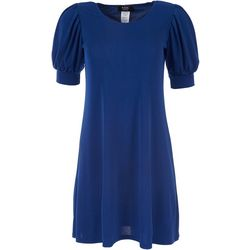 MSK Petite Solid Short Sleeve Dress