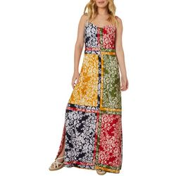 MSK Petite Floral Mixed Print Sleeveless Maxi Dress