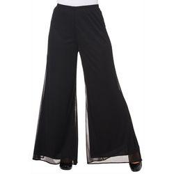 MSK Petite Solid Mesh Wide Leg Pants