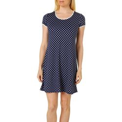 MSK Petite Dot Print Swing Dress