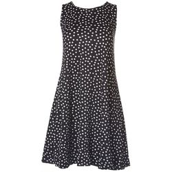 Jamie & Layla Petite Polka Dot Print Sleeveless Dress